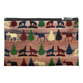Wild Moose Wolf Wilderness Mountain Cabin Rustic Travel Accessories Bags