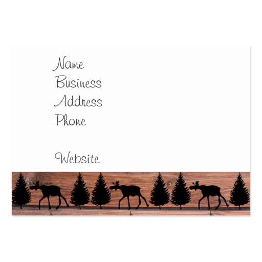 Wild Moose Wolf Wilderness Mountain Cabin Rustic Business Card Template