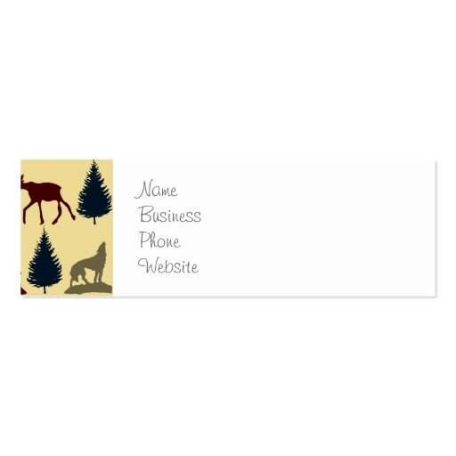 Wild Moose Wolf Wilderness Mountain Cabin Rustic Business Card Templates
