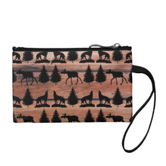 Wild Moose Wolf Wilderness Mountain Cabin Rustic Change Purses