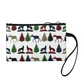 Wild Moose Wolf Wilderness Mountain Cabin Rustic Coin Purses