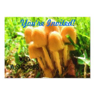 Wild Mushroom 13 Cm X 18 Cm Invitation Card