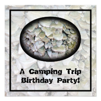 Wild Mushrooms Camping Birthday Party Personalized Invites