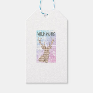 WILD MUSIC GIFT TAGS