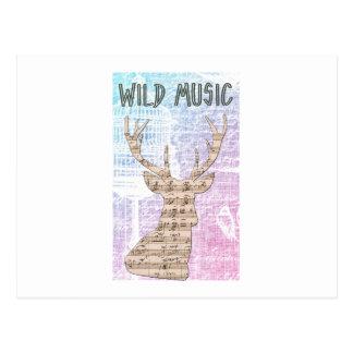 WILD MUSIC POSTCARD