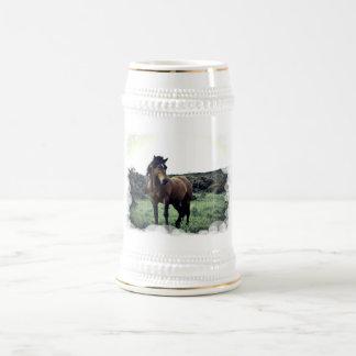 Wild Mustang Beer Stein Mug