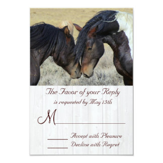 WIld Mustang Horse Wedding RSVP Cards 9 Cm X 13 Cm Invitation Card
