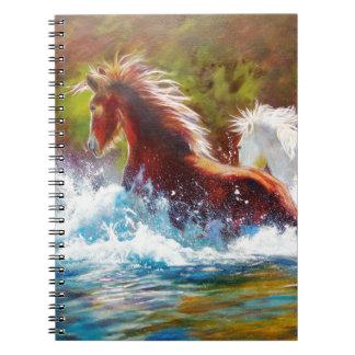 Wild Mustang Splash Notebook