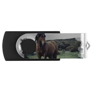 Wild Mustang Swivel USB 2.0 Flash Drive
