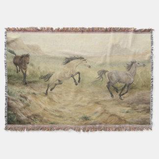Wild Mustang Throw Blanket