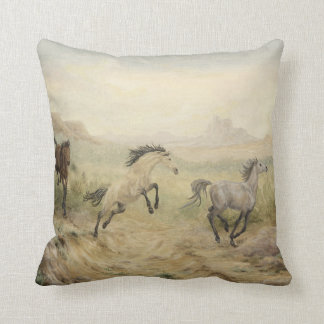 Wild Mustang Throw Pillow Throw Cushions