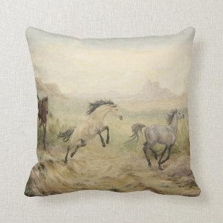 Wild Mustang Throw Pillow Throw Cushions