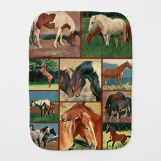 Wild Mustangs Burp Cloth