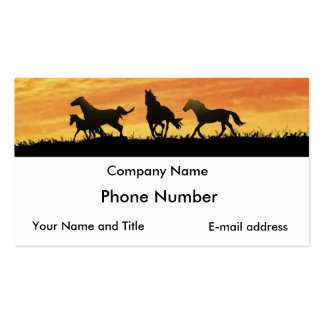 Wild Mustangs Double-Sided Standard Business Cards (Pack Of 100)
