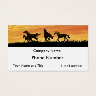 Wild Mustangs Business Card