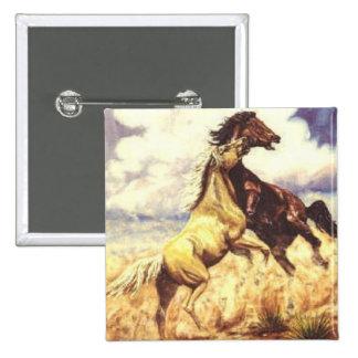 Wild Mustangs Button