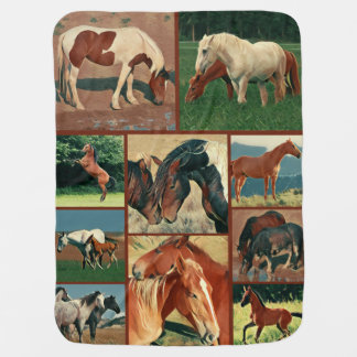 Wild Mustangs Collage Buggy Blankets