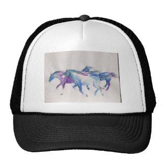 Wild Mustangs in Pastel Hats