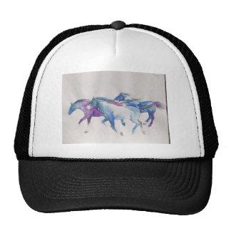 Wild Mustangs in Pastel Mesh Hats