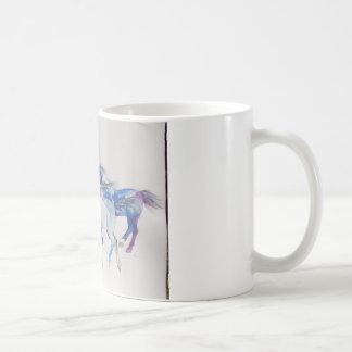 Wild Mustangs in Pastel Mugs