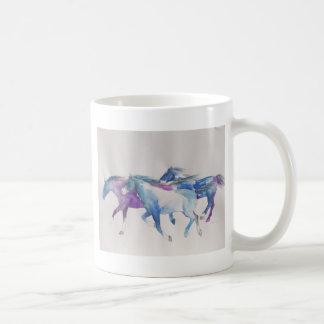 Wild Mustangs in Pastel Coffee Mugs
