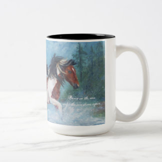 Wild Mustangs In The Rain Coffee Mug