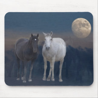Wild Mustangs of the Night Mouse Pad