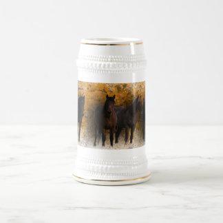 Wild Mustangs Stein Mugs