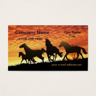 Wild Mustangs Sunset Business Card