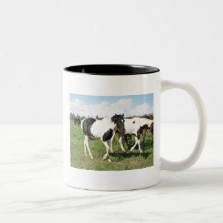 Wild Mustangs Two-Tone Mug