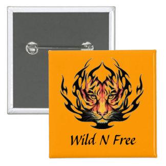 Wild N Free; Tiger Button
