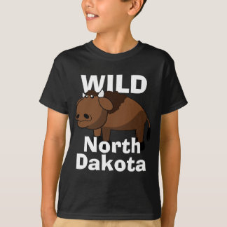 """Wild North Dakota"" with Bison T-Shirt"