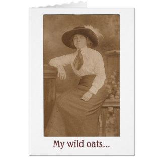 Wild Oats Turned to Shredded Wheat Card