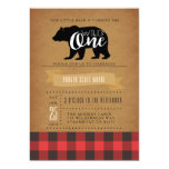 Wild One Bear | First Birthday Party Invite