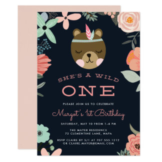 Wild One | First Birthday Party Invitation