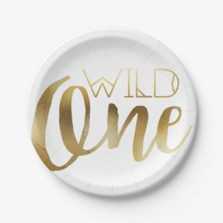 Wild One | First Birthday Party Paper Plate
