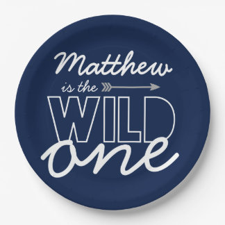 Wild One First Birthday Party Paper Plates 9 Inch Paper Plate