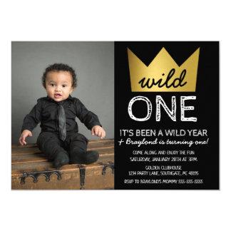Wild One First Birthday Photo Invitation