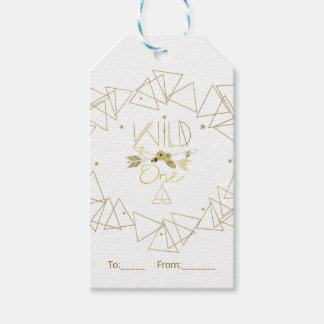 WILD ONE Gold & White Boho 1st Birthday ANY COLOR Gift Tags