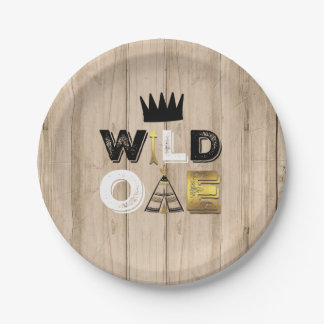 "Wild One Paper Plate 7"" King Of The Wild"