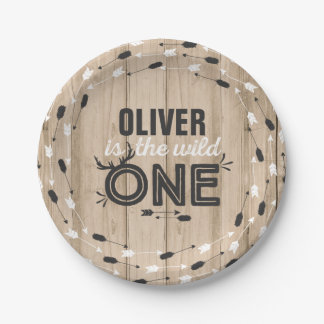 """Wild One Paper Plate 7"""" Rustic Rustic Wild One"""
