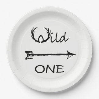 Wild One Theme Paper Plate