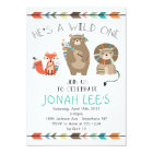 Wild One - Tribal First Birthday Invitation