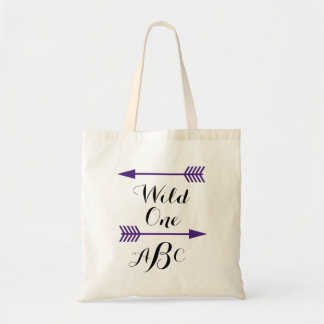 Wild One w/arrows Tote- Customize monogram Tote Bag