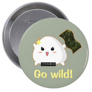Wild Onigiri 10 Cm Round Badge