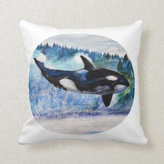 Wild Orca Art Throw Cushion