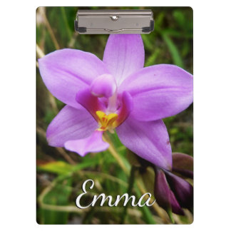 Wild Orchid Purple Tropical Flower Clipboards