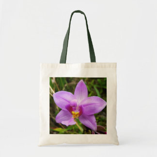 Wild Orchid Purple Tropical Flower Tote Bag