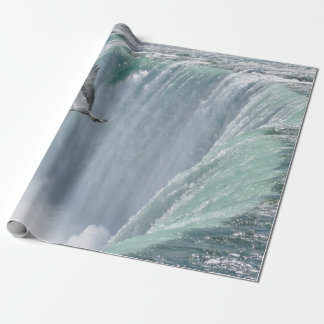 Wild Osprey Flying over Niagara Falls, Ont. Canada Wrapping Paper