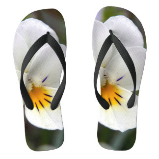 Wild Pansy Flip Flops